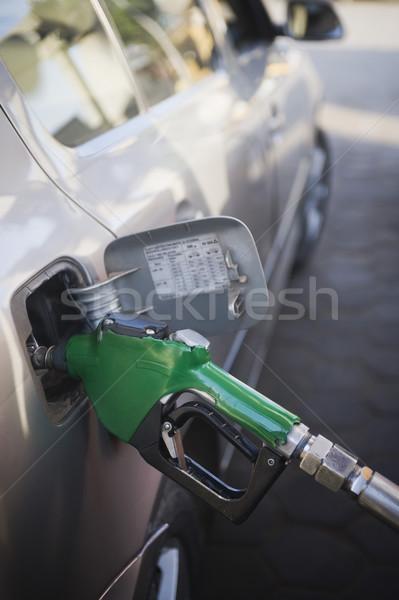 Autó benzinkút Új-Delhi India utazás ipar Stock fotó © imagedb
