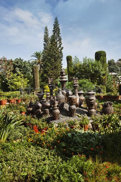 декоративный парка мира район небе дерево Сток-фото © imagedb