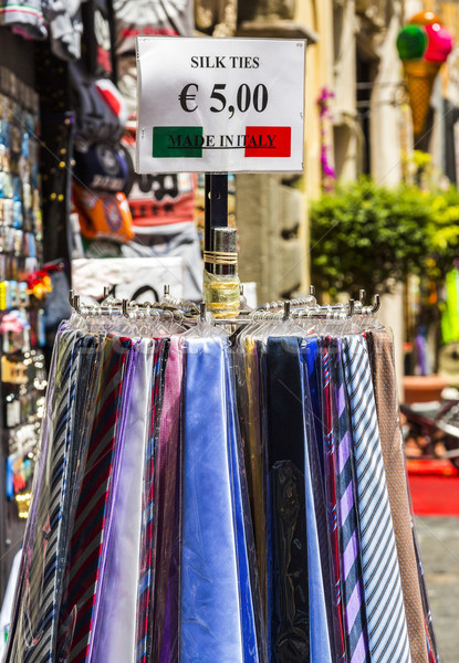 Ties for sale at a market stall Stock photo © imagedb