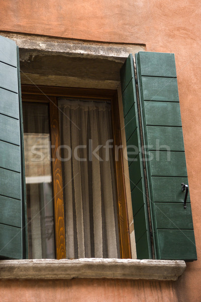 Low angle view of a open window Stock photo © imagedb