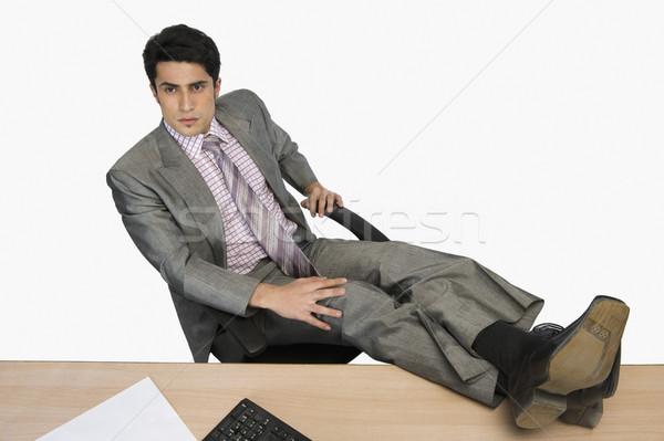Işadamı rahatlatıcı ofis iş adam bacaklar Stok fotoğraf © imagedb