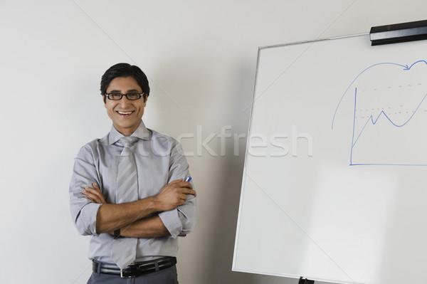Retrato maestro sonriendo hombre adulto Foto stock © imagedb