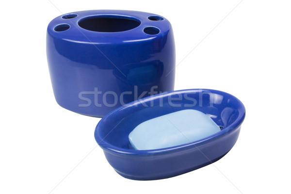 Zeep schotel tandenborstel plastic fotografie Stockfoto © imagedb