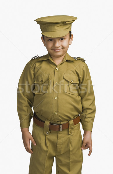 Fille policier enfant police portrait robe Photo stock © imagedb