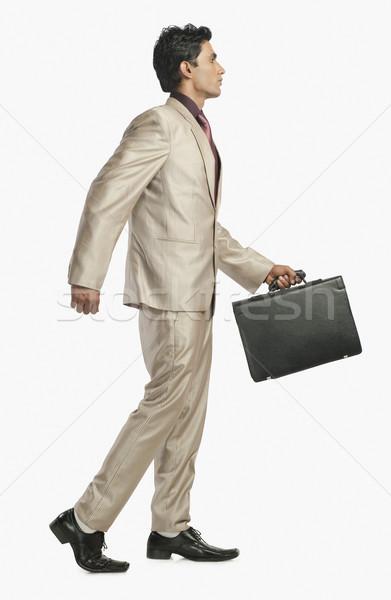 бизнесмен портфель бизнеса человека один Сток-фото © imagedb