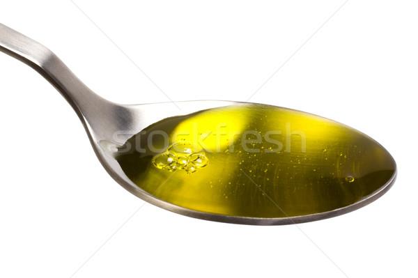 クローズアップ 食用油 油 黄色 写真 白地 ストックフォト © imagedb