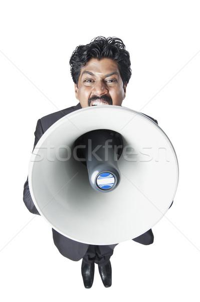 юг индийской бизнесмен мегафон портрет Сток-фото © imagedb