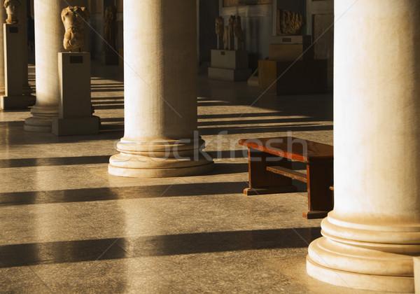 Foto stock: Corredor · antigo · museu · Atenas · Grécia · viajar