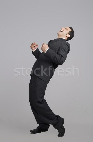 бизнесмен смеясь радости Постоянный 20-х годов уверенность Сток-фото © imagedb