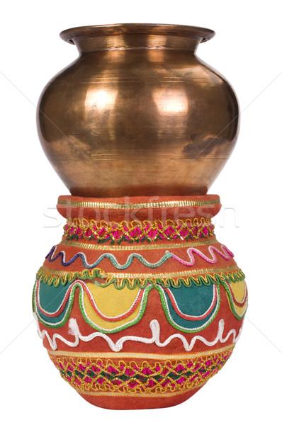 Dos diseno metal patrón ornamento Foto stock © imagedb