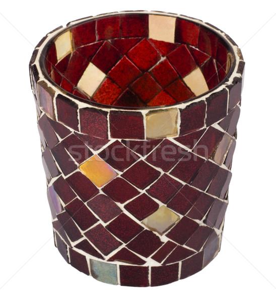 Primo piano candeliere design rosso pattern isolato Foto d'archivio © imagedb