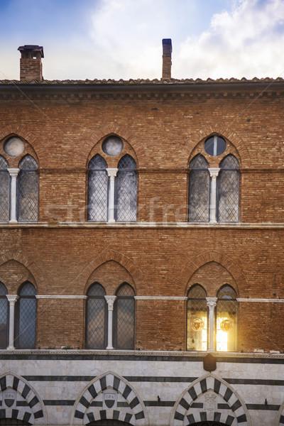 Fasada dziedzictwo budynku Toskania Włochy okno Zdjęcia stock © imagedb