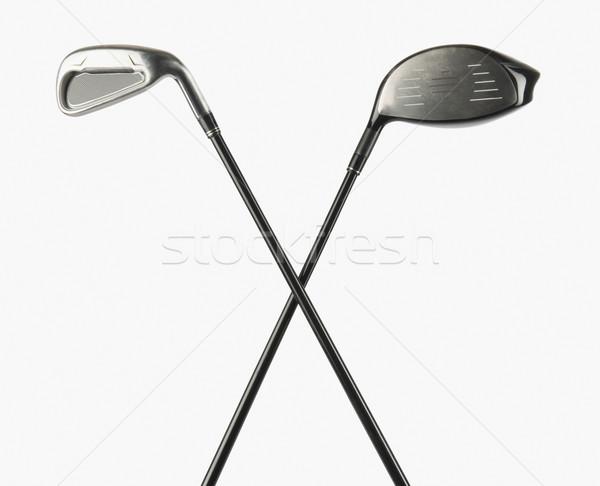 Iki golf kulüpleri golf Metal oyun Stok fotoğraf © imagedb