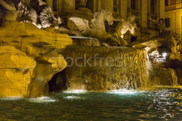 Fontaine de trevi Rome eau cheval art Rock Photo stock © imagedb