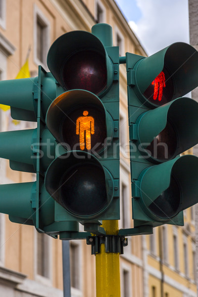 Close-up of a traffic light in a city Stock photo © imagedb