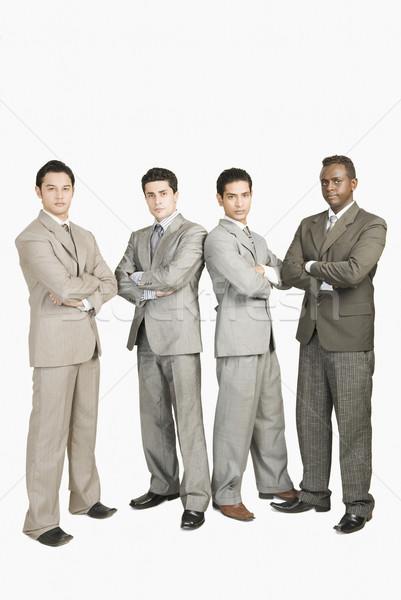 肖像 4 ビジネスマン 立って ビジネス ストックフォト © imagedb