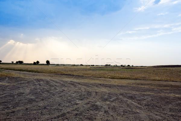 Pneu chemin de terre Inde ciel paysage modèle Photo stock © imagedb