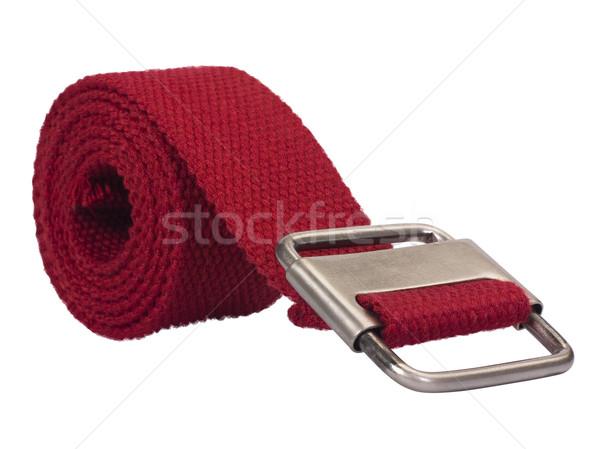 Сток-фото: хлопка · пояса · красный · современных · белом · фоне