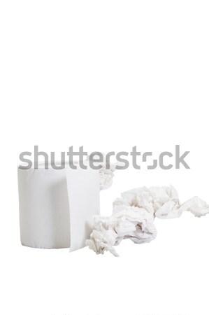 туалетная бумага катиться бумаги мусора фотографии Сток-фото © imagedb