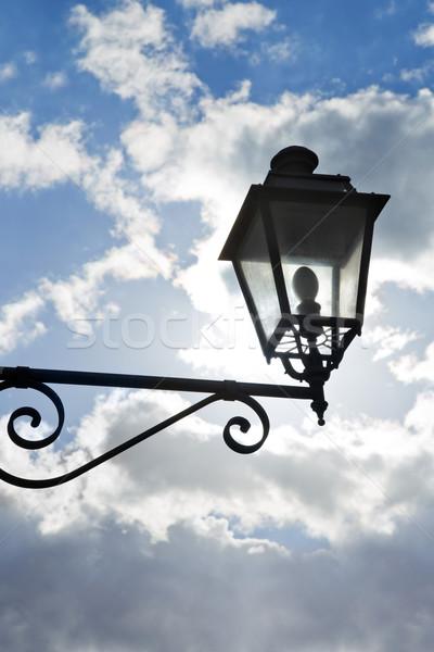 Alulról fotózva kilátás lámpás égbolt Stock fotó © imagedb