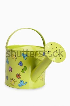 Regador amarelo lata isolado horizontal Foto stock © imagedb