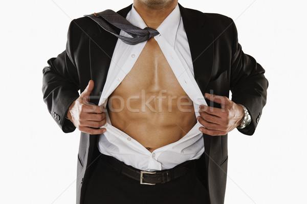 Homme exercice énergie horizontal Photo stock © imagedb