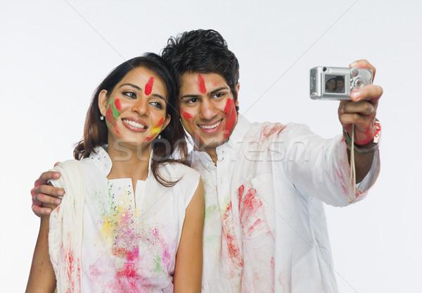 пару фотография улыбаясь радости счастье Сток-фото © imagedb