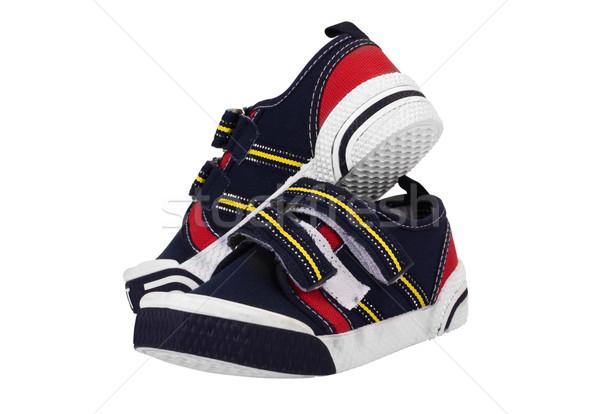пару холст обуви моде белый Сток-фото © imagedb