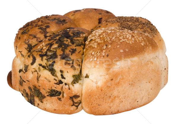 Közelkép gabona kenyér étel étel közelkép Stock fotó © imagedb
