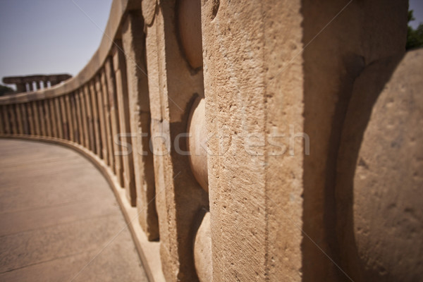 Architectural detail of the ancient stupa at Sanchi, Madhya Prad Stock photo © imagedb
