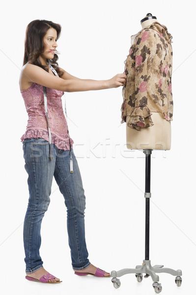女性 ファッション デザイナー ドレス マネキン 鉛筆 ストックフォト © imagedb
