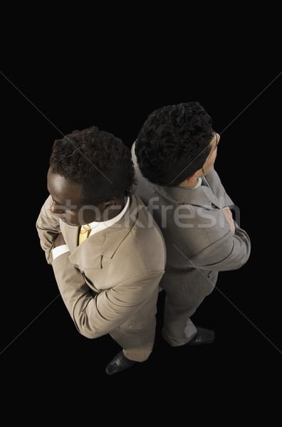 表示 2 ビジネスマン 立って ストックフォト © imagedb