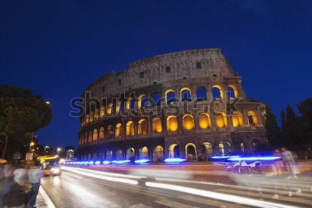 свет ночь история Рома римской улице Сток-фото © imagedb