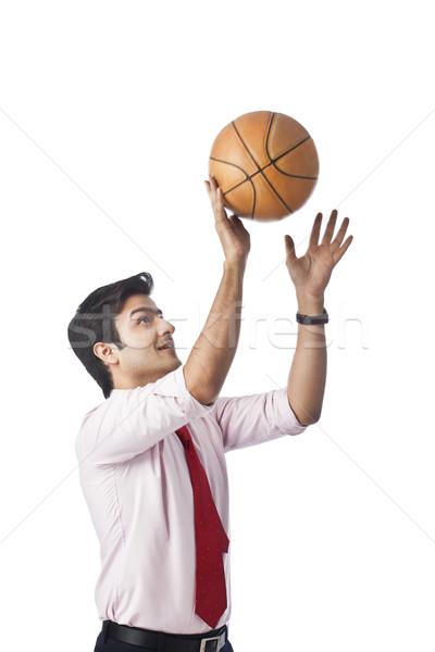 Işadamı basketbol adam spor genç Stok fotoğraf © imagedb