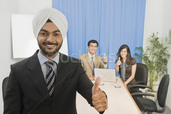 Business sorridere acqua Foto d'archivio © imagedb