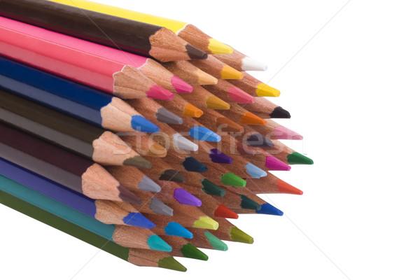 Kolorowy ołówki drewna farbują sztuki Zdjęcia stock © imagedb