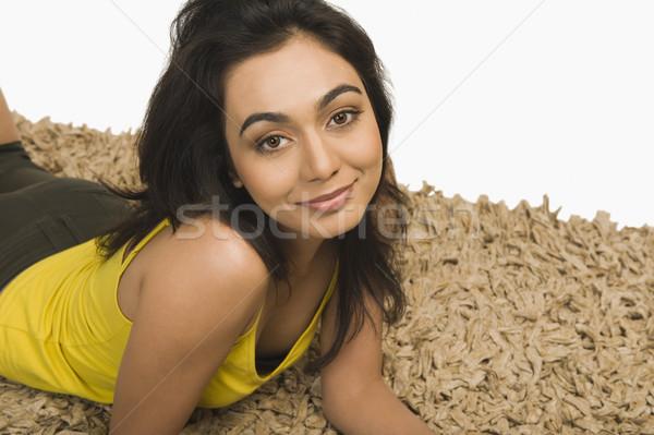 Portre kadın genç güzel mutluluk fotoğrafçılık Stok fotoğraf © imagedb