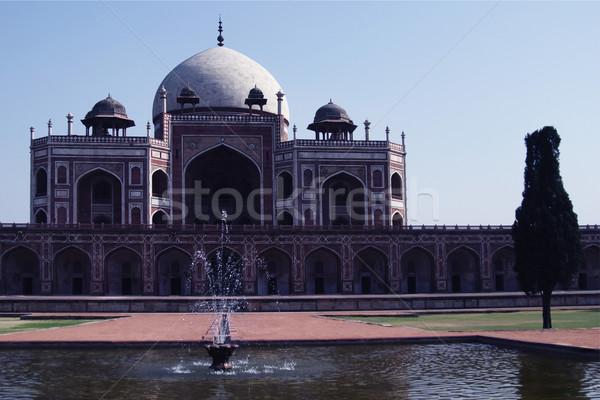 Stok fotoğraf: çeşme · mezar · Delhi · Hindistan · su · bahçe