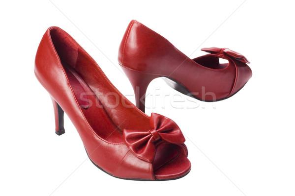 Par sapatos moda vermelho Foto stock © imagedb