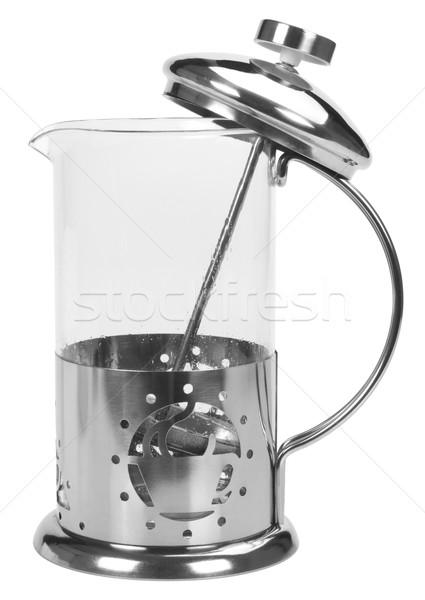 кофеварка открытых белом фоне вертикальный Сток-фото © imagedb