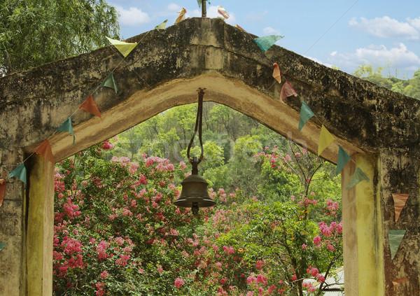 Ingresso tempio parco cielo fiore albero Foto d'archivio © imagedb