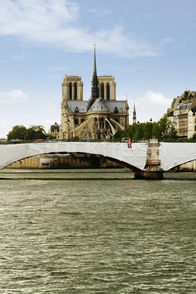 моста собора Париж реке Франция Сток-фото © imagedb