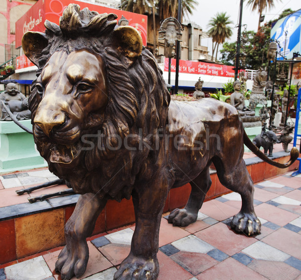 Close-up of a lion statue, Mount Abu, Sirohi District, Rajasthan Stock photo © imagedb