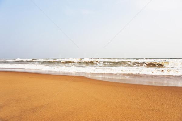 Waves on the beach, Puri, Orissa, India Stock photo © imagedb