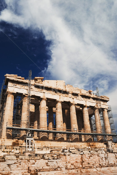 Antigua templo Partenón Acrópolis Atenas Foto stock © imagedb