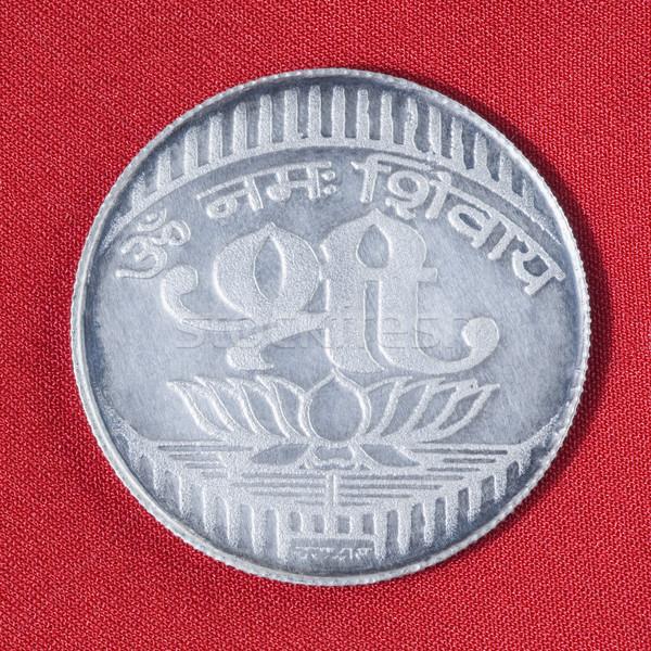 Közelkép ezüst érme pénzügy stúdió vallás Stock fotó © imagedb