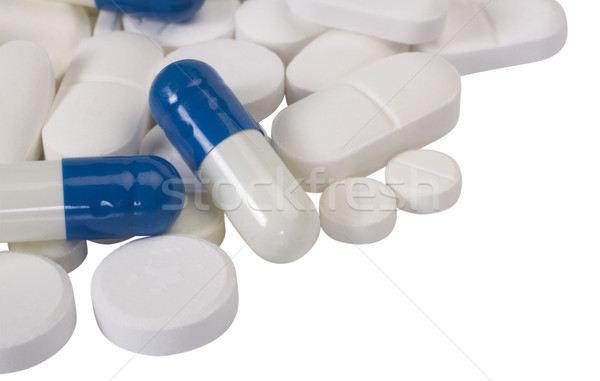 медицина синий группа таблетки белый Сток-фото © imagedb