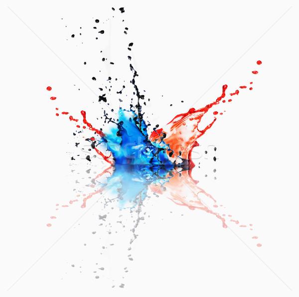 Stockfoto: Splash · verschillend · kleur · Rood · zwarte · kleuren