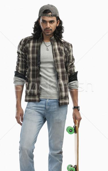 Uomo skateboard moda sport shirt Foto d'archivio © imagedb