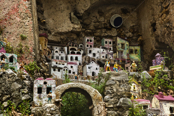 миниатюрный домах пород лист искусства рок Сток-фото © imagedb